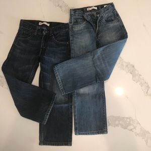 2 pairs of boys Levi's 505 jeans